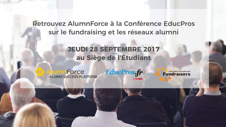 AlumnForce partenaire de la Conférence EducPros sur les réseaux alumni et le fundraising