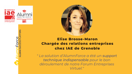 Forum Entreprises Virtuel : le retour d'expérience de l'IAE de Grenoble